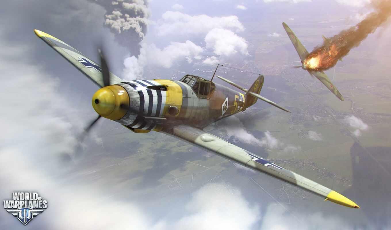warplane, world, game, messerschmitt, самолёт