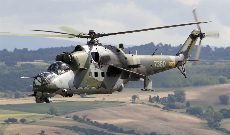 ми, вертолет, полет, транспортно, советский, боевой, авиация,