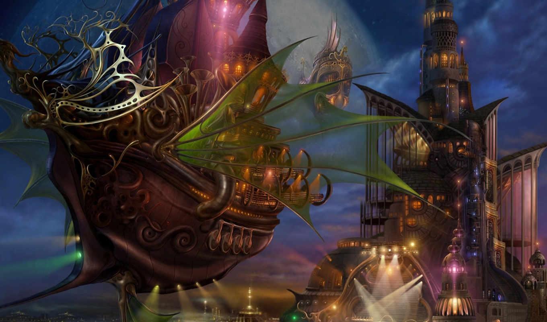fantasy, корабль,