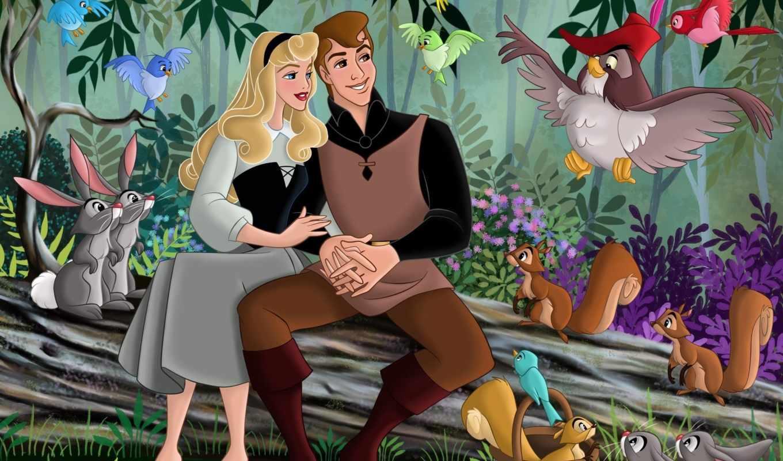 красавица, спящая, дисней, уолт, мультфильм, сказка, фанарт, принцесса, аврора,