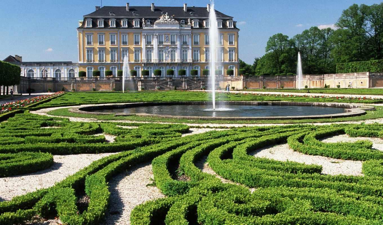 augustusburg, north, rhine, castle, германия, westfalia, страны, castles, park,