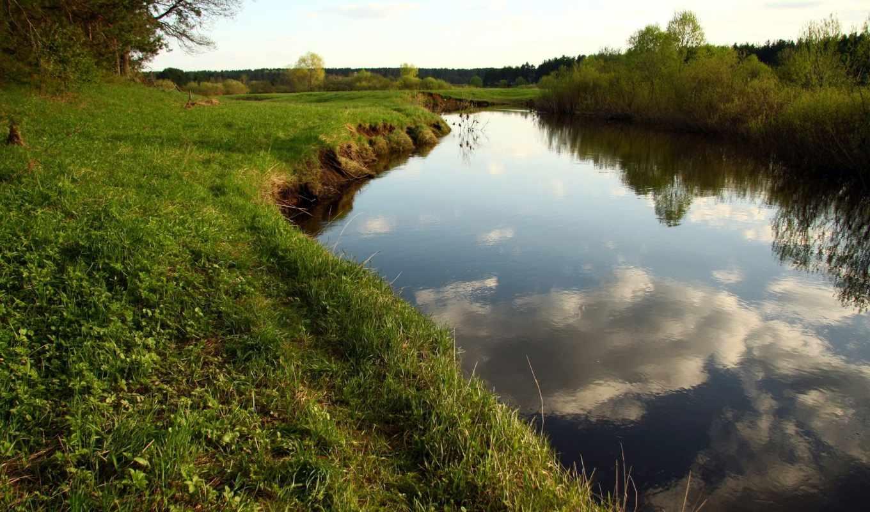 река, прогулка, лес, landscape, небо, настроение, кава, отдых, природа, берег, заводь,