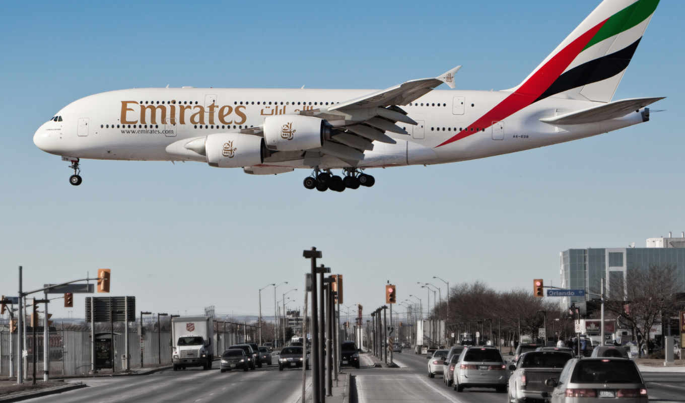 airbus, emirates, самолёт, airline, пассажирский, самолеты, авиация, со,