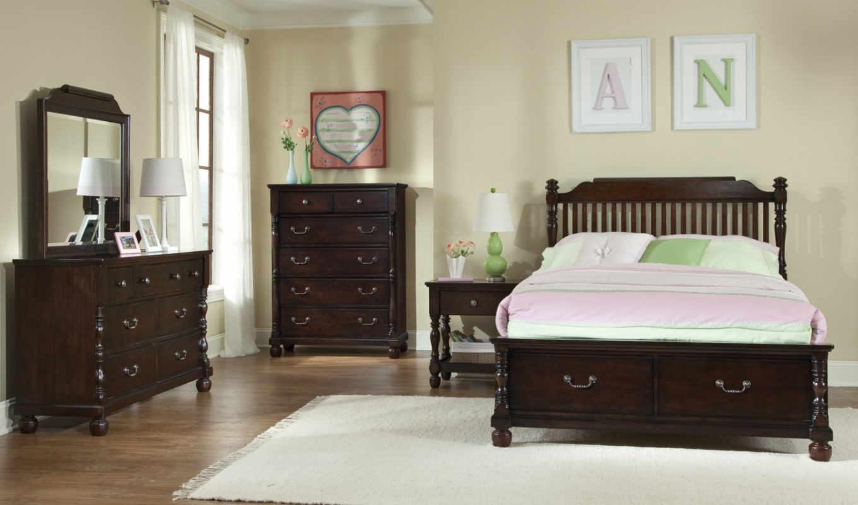 спальня, саванна, мебель, кровать, современный, пульт,