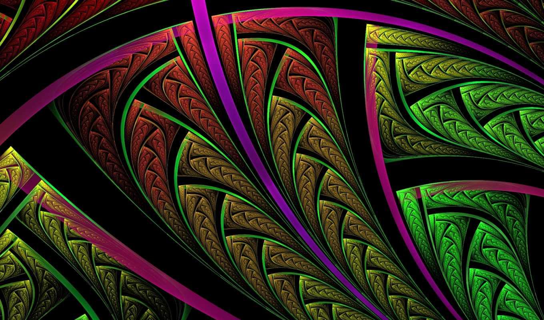 фракталы, абстракция, абстракции, широкоформатные, pattern,