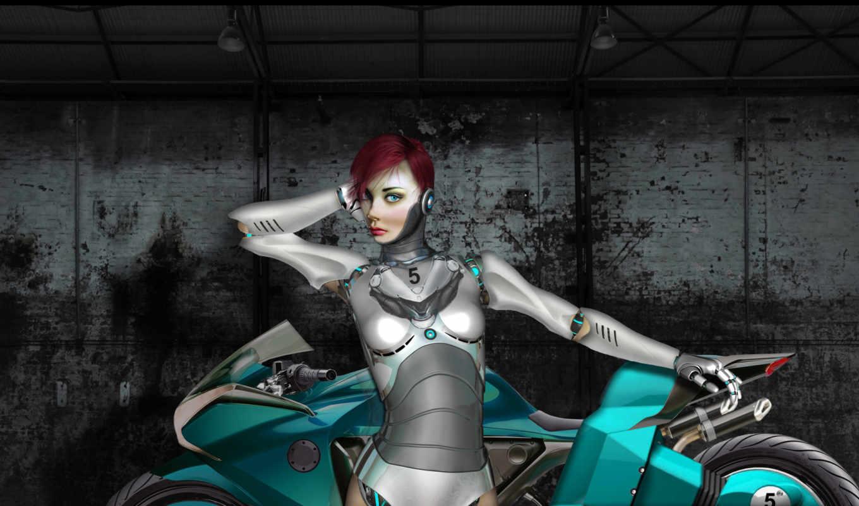 страница, мотоцикл, robot, металл,