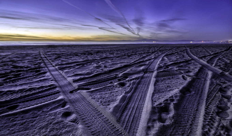 пляж, море, песок, photography,
