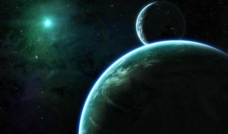 космос, планеты, звезды, спутники, картинка,