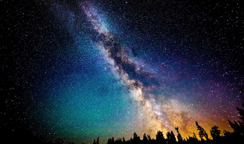 млечный, путь, звезды, небо, ночь, galaxy,