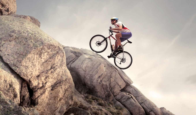 спорт, велосипед, девушка, ребенок, природа, велосипедом, разные, картинка, узоры, bike,