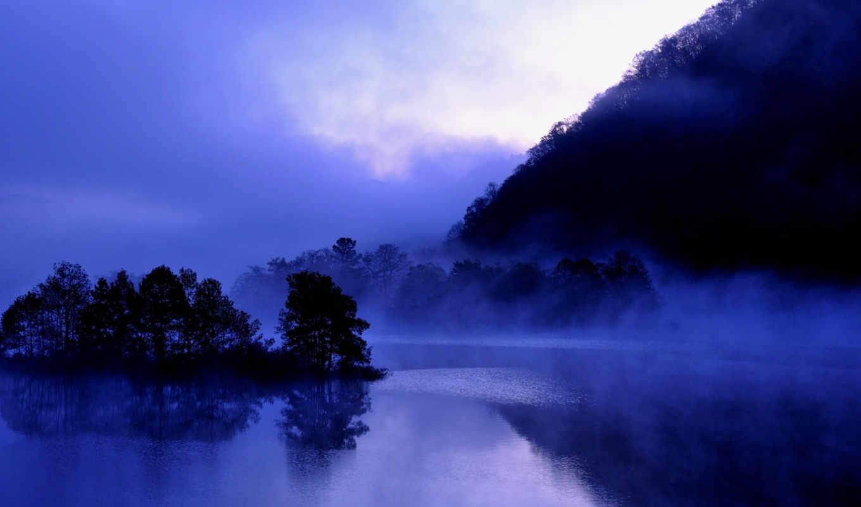 япония, туман, akimoto, озеро, фукусима,