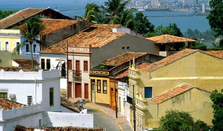 olinda, brasil, pernambuco, brazil, uma, cidade,