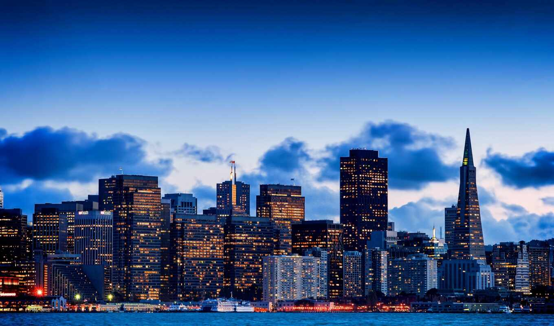 сша, город, usa, ночь, небоскрёба