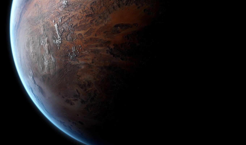 space, planet, свет, поверхность, рельеф, тень, атмосфера, art, picture,