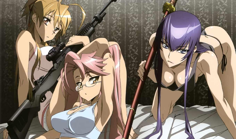 dead, high, highschool, school, аниме, мертвецов, manga, here, click, season,