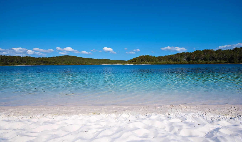 white, австралия, песок, озеро, more,