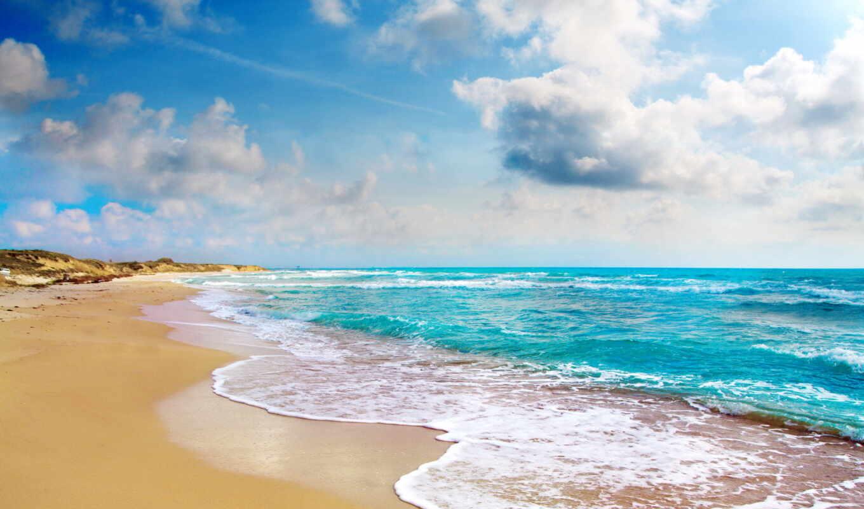 побережье, tropical, пляж, море, ocean, blue, рай, природа, summer,