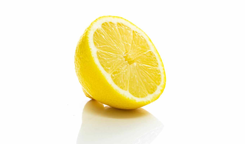 lemon, white, плод, slice, yellow, гладь, оранжевый