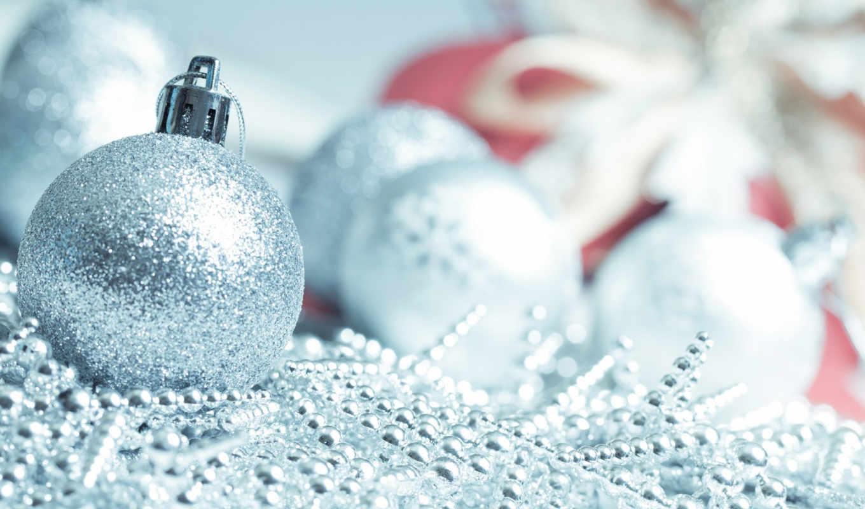 шары, год, новый, праздник, елочные, голубой, картинка,