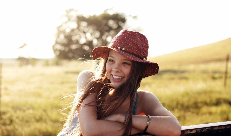 улыбка, девушка, summer, картинка, шляпа, настроение, только,
