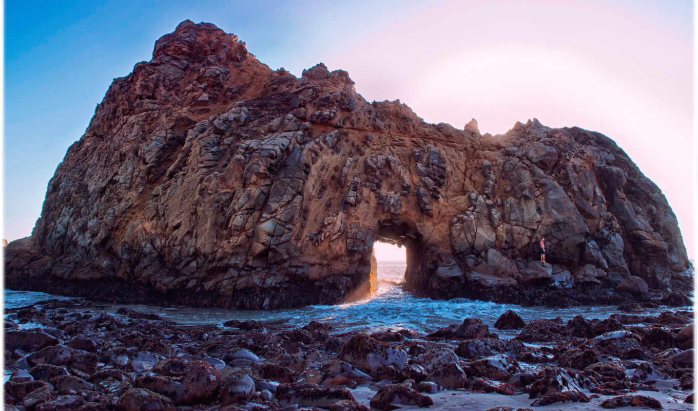 usa, калифорния, природа, смотреть, размере, истинном, море, скалы, cliff, обою,