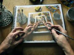 imagination, рисунок, руки