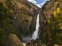 водопад, falls, yosemite