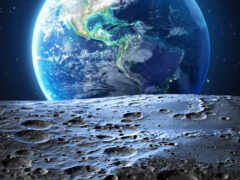 луна, космос, earth