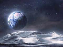 cosmos, land, землю
