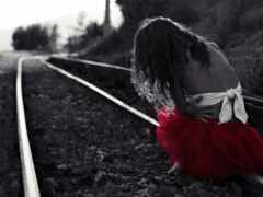 грустный, девушка, лицо