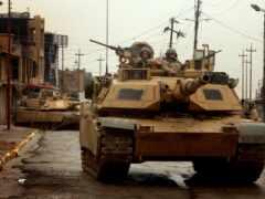 танк, iraqi, город