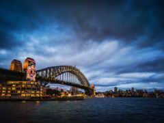 город, ночь, австралия