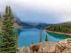 озеро, гора, природа