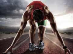 running, sprint, distance