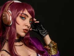девушка, cosplay, волосы