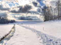 winter, hokkaido, снег