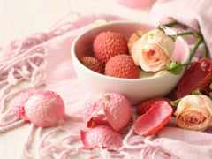 фрукты, личи, плод