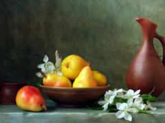 натюрморт, fruta, see