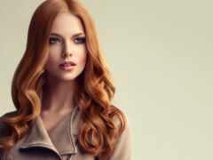 волосы, фен, red