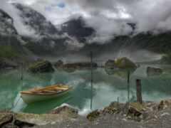 norwegian, гора, лодка