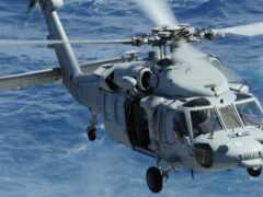 вертолет, hawk, море