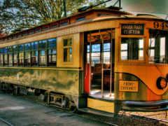 трамвай, ретро, рельсы