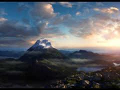 горы, природа, утро