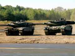 танки, леопард, полигон