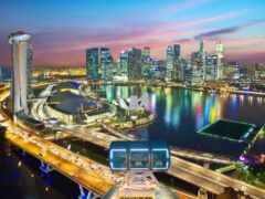 город, singapore, ночь