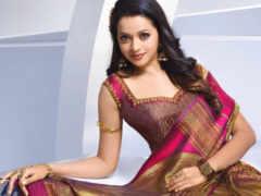 bhavana, saree, актриса
