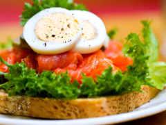 бутерброд, грибы, еда