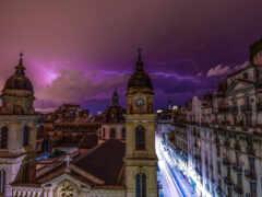 lightning, bueno, aire