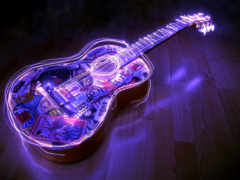 гитара, струнный инструмент