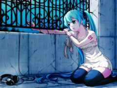 anime, грусть, девушка